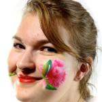 rose face paint tutorial