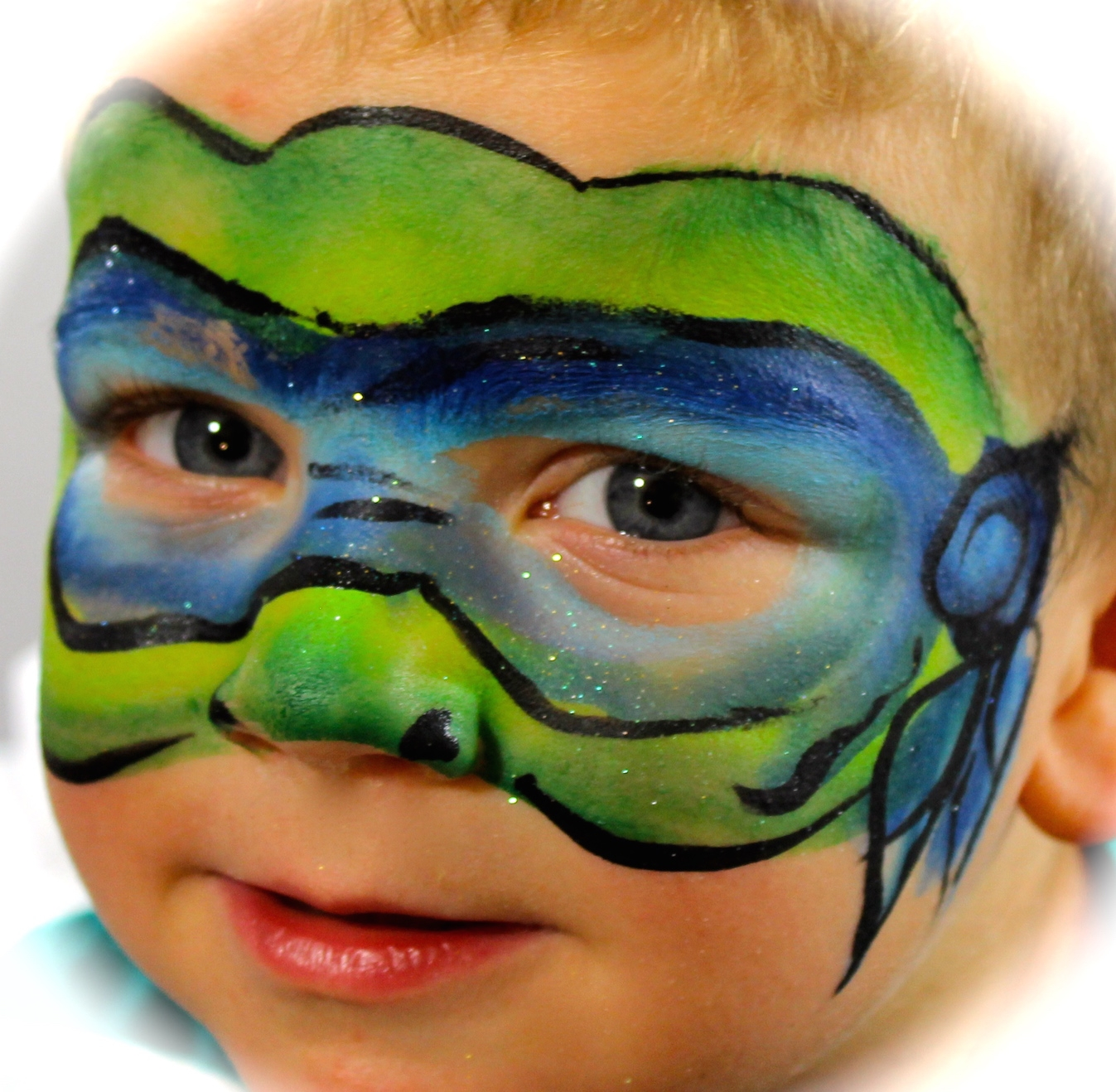 Ninja Turtle Face Painting Step By Step