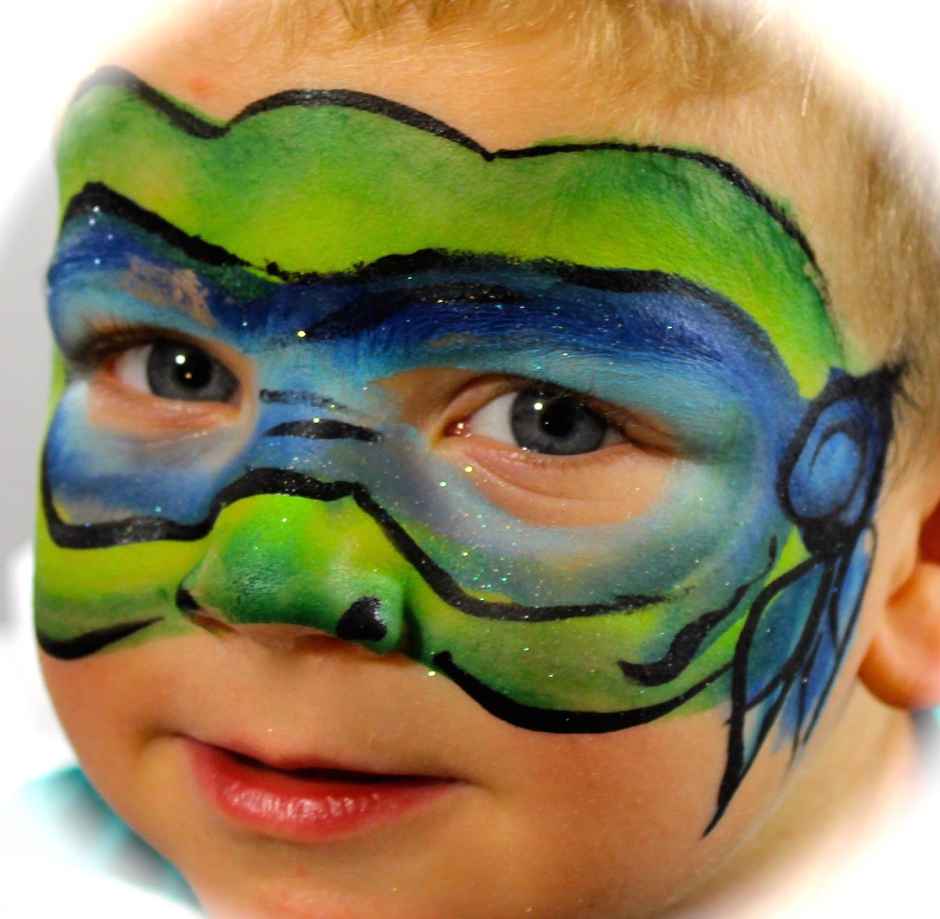Leonardo Ninja Turtle Face Paint