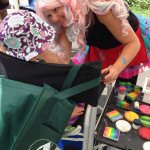 Face painting extravaganza Giggle Loopsy Denver area clown