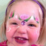 Pink Flowers Giggle Loopsy Denver area face painting