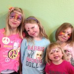 Girls face painting Giggle Loopsy Denver area clown