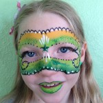 Green Mask Giggle Loopsy Denver area face painting