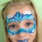 Blue Mask Giggle Loopsy Denver area face painting